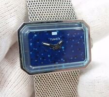 TIMEX, Blue Face, Manual Wind,Mesh Stainless Band, Groovy Baby, UNISEX WATCH 001