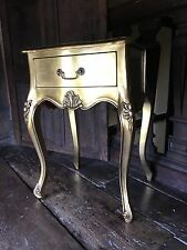 Mahogany French Boudior Ornate Gilt Antique Gold Leaf Cabinet Bedside Side Table