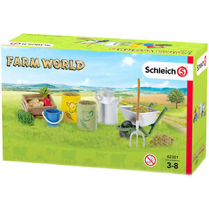 Schleich Farm World Feeding The Farm Animals Playset 42301 NEW