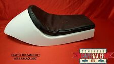 CAFE RACER FIBREGLASS SEAT NEW DOMINATOR STYLE FINISHED IN BLACK WITH BASIC PAD