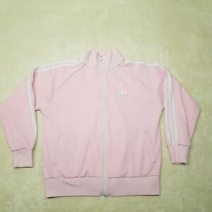 Adidas Equipment Sweater Women Extra Large Pink White Athletic Gym Top Ladies *