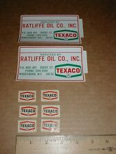 Ratliffe Oil Gas Gasoline Co Texaco Wadesboro NC garage sticker + model decals