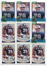 Willie Broughton 9 card lot Miami Hurricanes / Dallas Cowboys