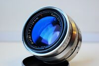 RARE Silver Carl Zeiss Jena Biotar RED T 1:2 F=58 MM SLR lens M42 EXC