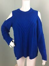 NWT Womens Vince Camuto Cold Shoulder Cable Sweater Sz XL Extra Large