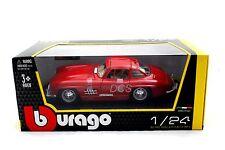 BBURAGO 1954 MERCEDES BENZ 300SL RED  1/24 DIECAST CAR 22023