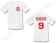 T-shirt Enfant Equipe Nationale Football Tunisie avec Prénom Personnalisé