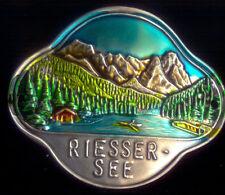 Riessersee used shield mount hiking medallion stocknagel  G1985