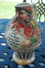 Large Character German Pitcher Stein