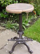 RUSTIC Trattore SEAT/Bar Stool Vintage Antico Ferro/Legno Sgabello