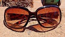 Designer Women's Bedazzled Brown Fashion Celebrity Rectangular Sunglasses