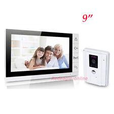 9 inch LCD Video Door Phone Doorbell Intercom System Wired Night Vision Camera
