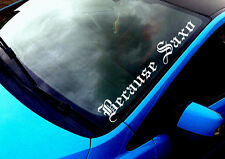 Because Saxo 02 ANY COLOUR Windscreen Sticker A2 A3 A4 A5 S Line Car Vinyl Decal