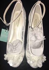 Monsoon White Dress Shoes Size 13 New Tags Flower Lace Cha Cha Cha Wedding