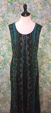 Women's Vintage Alix Taylor 90s 2 in 1 Maxi Dress Southwest Print Size 10