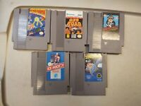 Lot of 5 Classic Nintendo Entertainment System NES Games