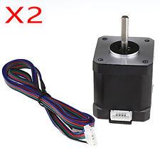 5pc Imprimante 3D 4-Pin Femelle-Femelle Connecteur XH2.54 Nema 17 photorépéteur Câble Moteur