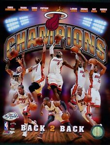 Miami Heat 2013 Team NBA Basketball Licensed 8x10 Matte Photo A7