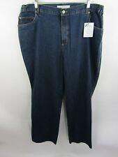 ROAMANS  Womens 18W Plus Sz Blue Denim 100% Cotton Jeans New /w tags