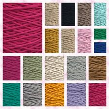 3-4mm SingleTwisted Pipping Cotton Cord  String Rope Craft Sewing Macrame DIY