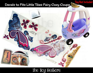 Replacement Stickers fits Little Tikes Tykes Fairy Cozy Coupe 30th NoSparkles