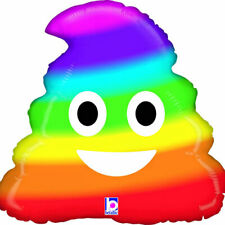 Pride Rainbow Emoji Poo Foil Party Balloon 50cm (20 inches) Tall