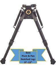 """TipTop® Rifle Bipod Picatinny Rail Mount Notched Legs Pivot+PAN QD: 9"""" -13"""""""