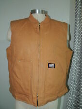 MENS LARGE -  BIG SMITH Nylon Lined Insulated Cotton Duck VEST