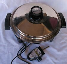Lustre Craft by West Bend Liquid Core Electric Skillet USA made Very Nice