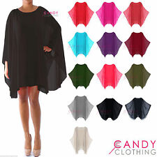 Polyester Tunic Casual Batwing Dresses for Women