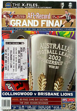 2002 AFL PREMIERS BRISBANE LIONS Football Club Membership + GF Record & Ticket