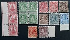 SCARCE 1914- Turks & Caicos Islands lot of 15 KGV & Cactus stamps Mint