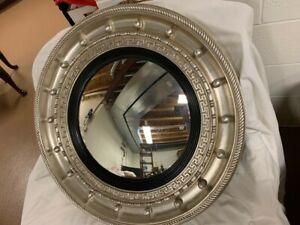 "29.5"" Friedman & Brothers Decorative Silver Circle Mirror"