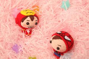 Handmade Marvel Avengers Ironman Spider-man Doctor Strange Weave Doll Keyring Be