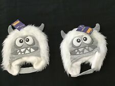Abominable Snowman Hat Faux Fur / Knit Infant 12-24 M Lot Of 2 Hats New