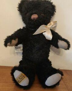 "Black MERRYTHOUGHT Teddy Bear - 12"""