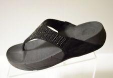 73476685f Fitflop Rokkit Womens 9 Black Diamond Flip Flop Sandal Suede