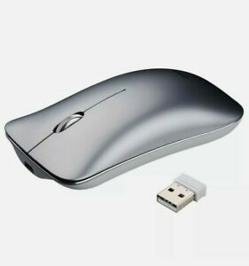inphic PM9 Wireless Rechargeable Computer Mouse Silent Click (Silver)