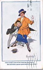 DONALD MCGILL INTER ART CARD 1920 I HAVE CAUGHT A MAN GET THE PARSON - RHYL
