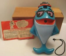 "Old Plastic Figural Charlie Tuna Fish Camera Big 10"" Starkist Promo w Box 1971"