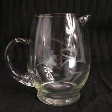 Vintage West Virginia Co  Cut Glass Juice Pitcher