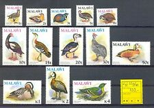 MALAWI 1975    MI# 229/241    CV € 130    BIRDS  **  MNH   VF (rare set )  @1