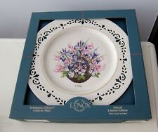 New Lenox Colonial Bouquet Massachusetts Second Colony Collector Plate 1996 Box