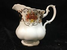 Royal Albert Bone China 'Heritage' Footed CREAMER with Gold Trim
