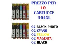 10 CARTUCCE PER HP PhotoSmart WIRELESS B100 B109 B110 CARTUCCIA COMP.  364XL