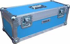 "7"" Single 300 Swan Flight Case Vinyl Record Box (Light Blue Rigid PVC)"