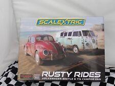 Scalextric Slot Car Legends Rusty VOLKSWAGEN Beetle & T1b Camper Van C3966A