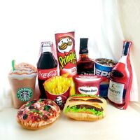 Bed Pillow 3D Wine Pizza Food Snack Shaped Plush Cushion Home Decor Party Gifts