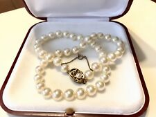 Majorica Pearl Necklace With Sterling Silver Clasp And Safety Chain