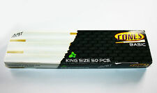50 Pack Box of Thin King Size Pre Rolled Ready Made Smoking Cones King Size